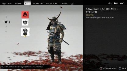 Ensemble d'armure de samouraï