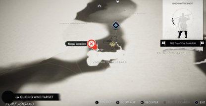 Emplacement de la carte de Tengai
