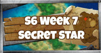 Saison 6, semaine 7, emplacement de l'étoile de bataille secrète