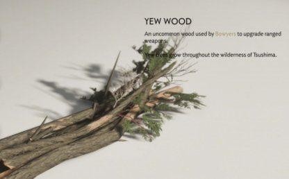 Choisissez du bois d'if sur un monde ouvert