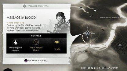 Message In Blood - Localisation de la quête