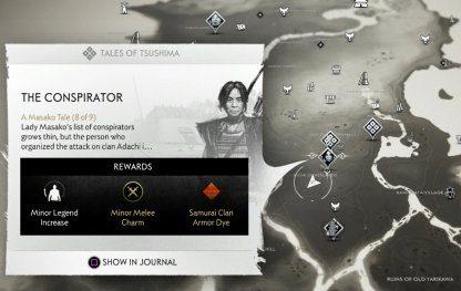 Le conspirateur - Localisation de la quête
