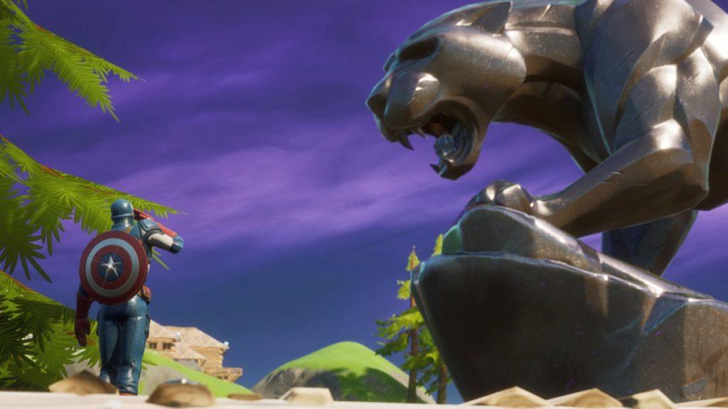Fortnite: une statue de Black Panther apparaît sur la carte