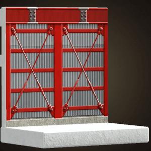 Mur à ossature d'acier