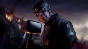 Avengers: Endgame - Captain America fait tomber Thanos avec le Mjolnir dans cet art inédit