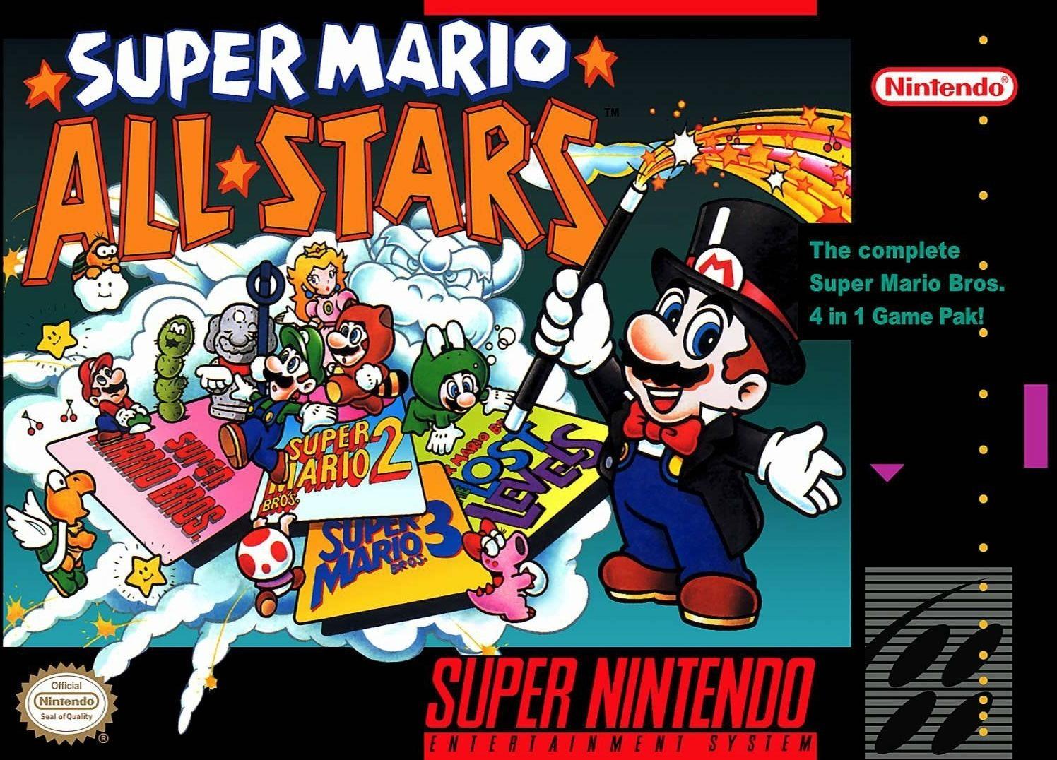 D'accord, alors celui-ci est un peu une triche. Super Mario All-Stars rassemble les trois jeux NES Mario et leur donne une cure de jouvence visuelle. En prime, vous pouvez lancer votre contrôleur encore et encore aux niveaux perdus incroyablement difficiles. Quoi qu'il en soit, c'est assez génial de jouer à travers l'évolution de la série phare de Nintendo.