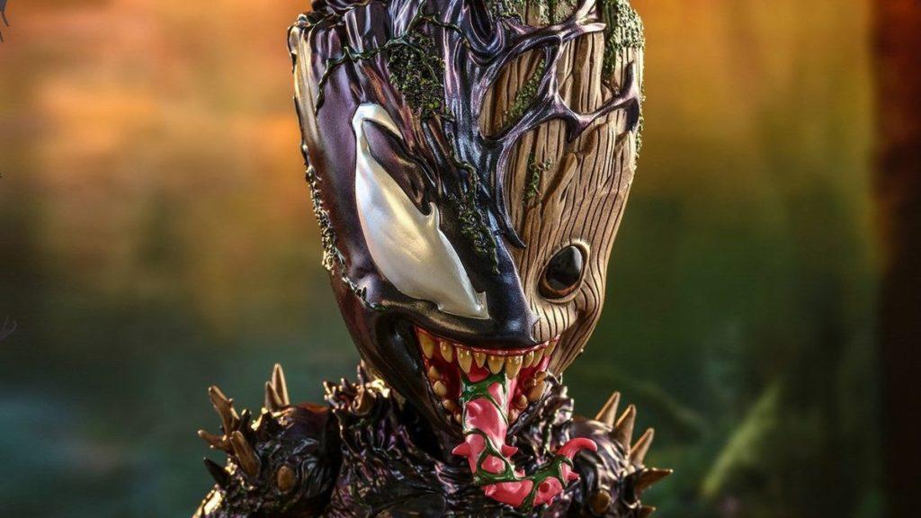 Venom pose Baby Groot dans une autre figurine incroyable de Hot Toys