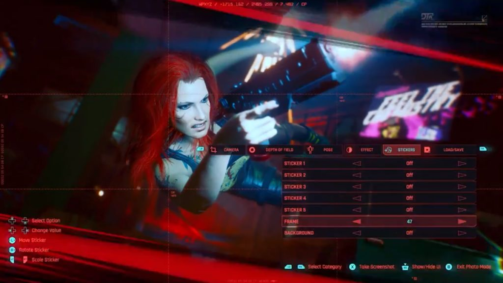 Cyberpunk 2077 révèle son mode photo