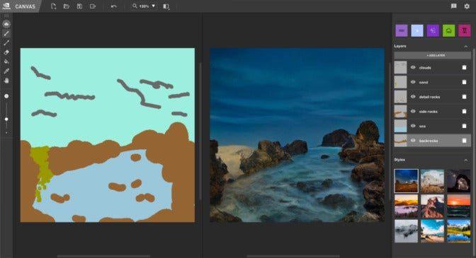 Téléchargez la version bêta de cette application Nvidia qui vous permet de transformer vos simples croquis en art photoréaliste